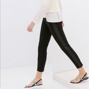🌚Zara Basic women's pants with faux leather